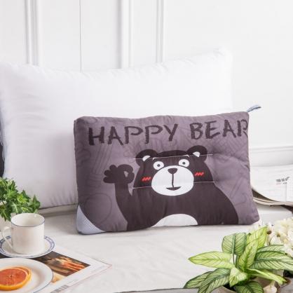 快樂熊天絲兒童水洗枕