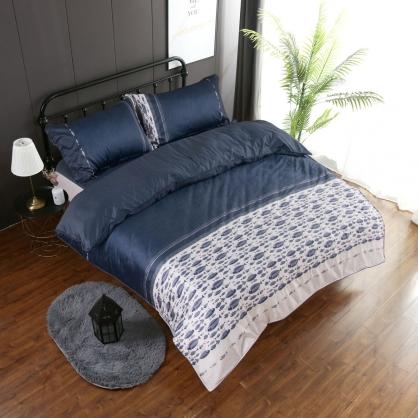 達威彼爾埃及長纖細棉兩用被鋪棉床包組-特大
