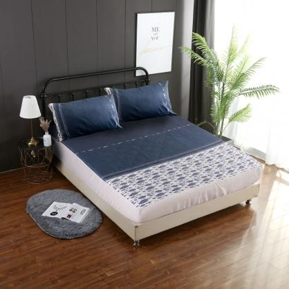 達威彼爾埃及長纖細棉三件式床包組-加大