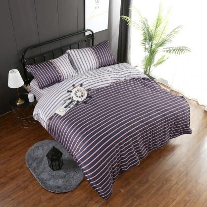 摩斯卡爾埃及長纖細棉兩用被鋪棉床包組-加大