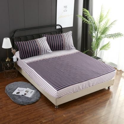 摩斯卡爾埃及長纖細棉三件式床包組-單人