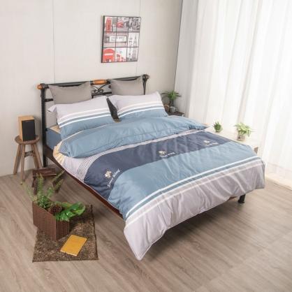西瑪愛特埃及長纖細棉兩用被鋪棉床包組-雙人