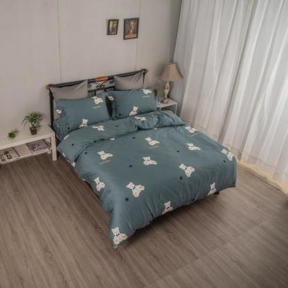 非爾貝爾埃及長纖細棉兩用被鋪棉床包組-加大