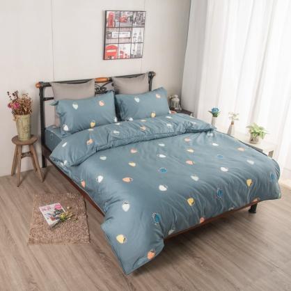 凱多修希埃及長纖細棉兩用被鋪棉床包組-雙人