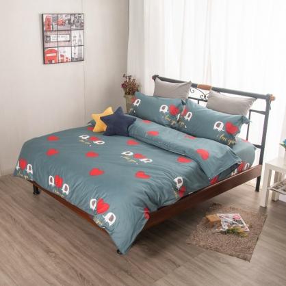 夢象成真埃及長纖細棉兩用被鋪棉床包組-雙人