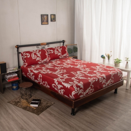 歡喜悅開埃及長纖細棉三件式床包組-特大