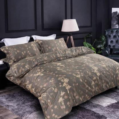 莫蘭卯靖100%帝王棉四件式兩用被鋪棉床包組-特大