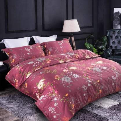 莫彩豔姿100%帝王棉四件式兩用被床包組-加大