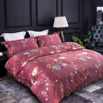莫彩豔姿100%帝王棉四件式床罩組-雙人