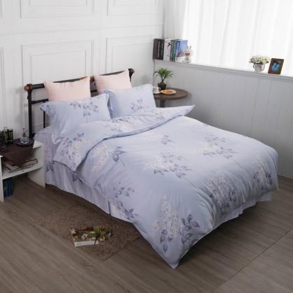 藍紛庭榭舒爽天絲床罩組-加大
