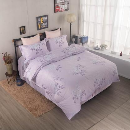 悠紫庭榭舒爽天絲床罩組-特大