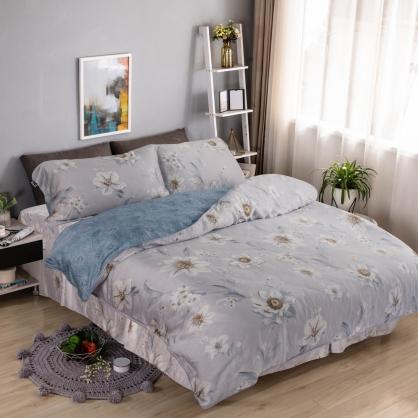 春濃花放40支萊賽爾天絲四件式床罩組-加大
