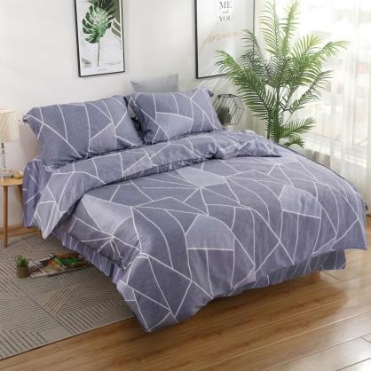休閒普普40支萊賽爾天絲四件式床罩組-加大