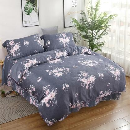 波爾多羅40支萊賽爾天絲四件式床罩組-特大
