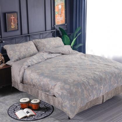 牧谷露爾60支紗萊賽爾天絲床罩組-雙人