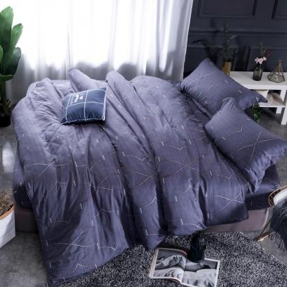鑫卡特拉100%帝王棉四件式兩用被床包組-加大