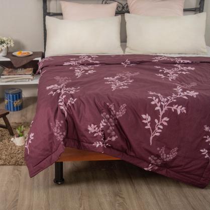 紫葉秋靜40支精梳棉鋪棉涼被
