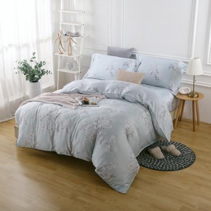 結簾梅枝40支紗天絲兩用被床包組-雙人