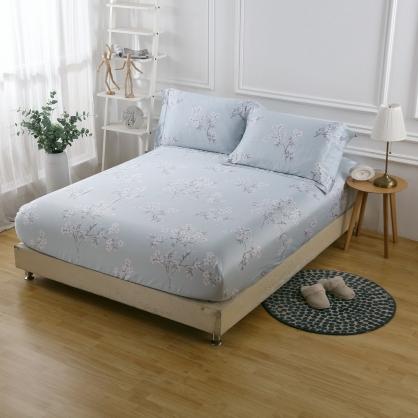 結簾梅枝40支紗天絲三件式床包組-雙人
