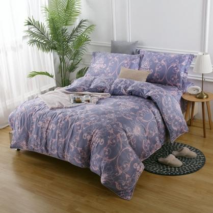 愛戀紫眠40支紗天絲兩用被床包組-雙人