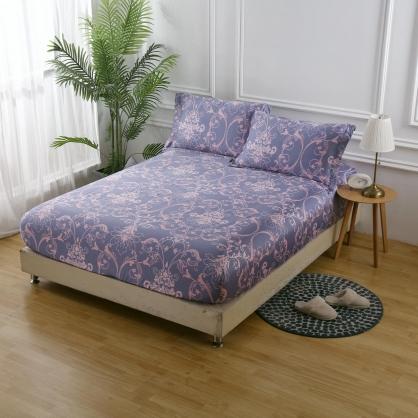 愛戀紫眠40支紗天絲三件式床包組-雙人