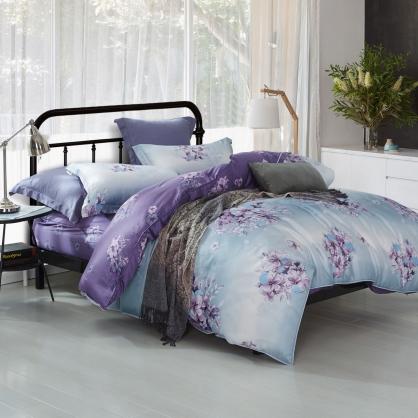 愛如潮水40支紗天絲兩用被床包組-雙人