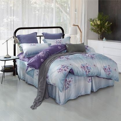 愛如潮水40支萊賽爾天絲四件式床罩組-特大