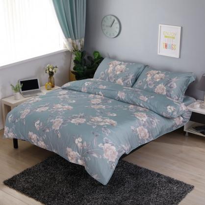 堤拉麗朵80支紗綾羅天絲棉兩用被鋪棉床包組-雙人