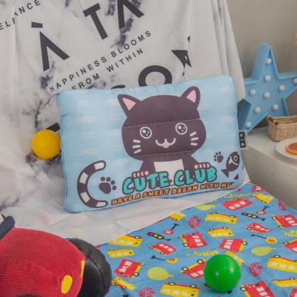 可愛貓仔天絲兒童水洗枕