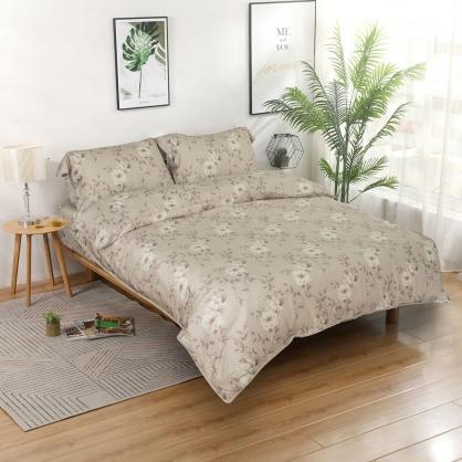 默情琉緣80支紗天絲兩用被鋪棉床包組-特大