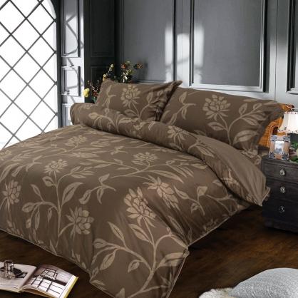 夜色天香海島棉兩用被床包組-加大
