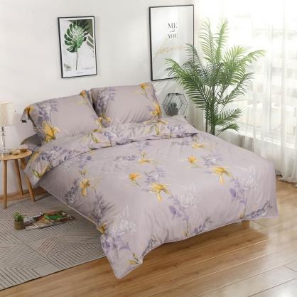 鳩心歲月細棉天絲兩用被床包組-加大(贈日式被枕頭組)