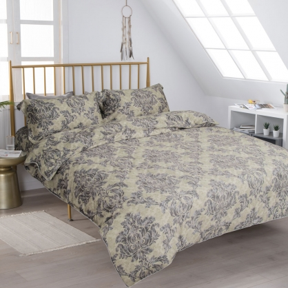 宮廷印象細棉天絲兩用被床包組-加大(贈日式被枕頭組)
