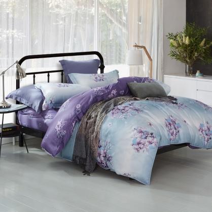 愛如潮水海島棉兩用被鋪棉床包組-雙人(贈日式被枕頭組)