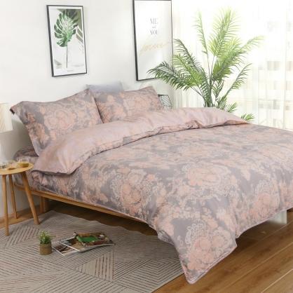 狄安娜海島棉兩用被床包組-加大(贈日式被枕頭組)