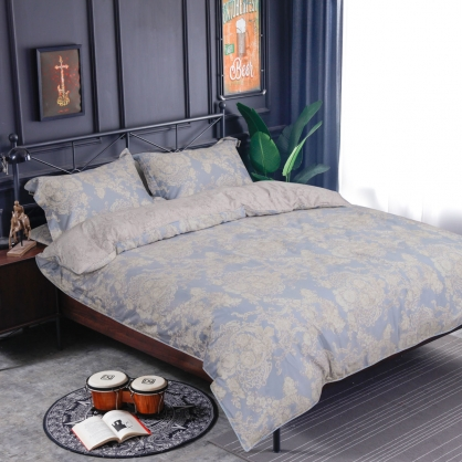 愛琳夢兒海島棉兩用被床包組-雙人(贈日式被枕頭組)
