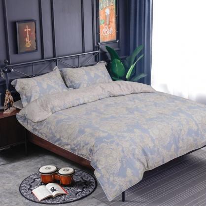 愛琳夢兒海島棉兩用被床包組-加大(贈日式被枕頭組)