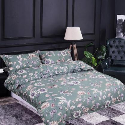 花墨奇緣100%帝王棉四件式兩用被鋪棉床包組-雙人
