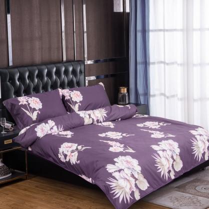 雲夢花都100%帝王棉四件式兩用被床包組-加大