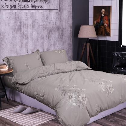 幽蘭清香100%帝王棉四件式兩用被床包組-加大