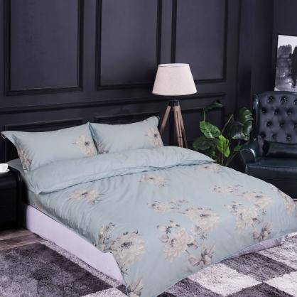 漫舞花影100%帝王棉四件式兩用被床包組-雙人