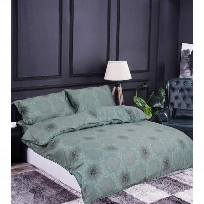 若隱花雨100%帝王棉四件式兩用被床包組-雙人