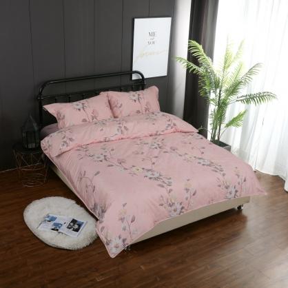 粉色夢境蘇丹棉兩用被鋪棉床包組-加大
