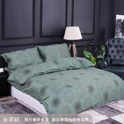 若隱花雨100%帝王棉四件式床罩組-雙人