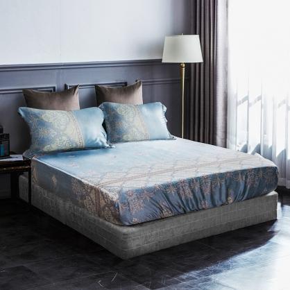 塞納風情40支紗天絲三件式床包組-加大