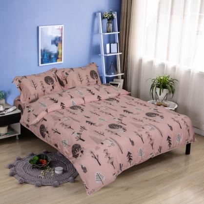 動物樂園細棉天絲兩用被床包組-加大