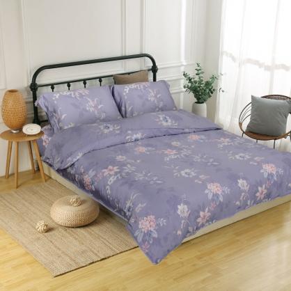 靜謐之花60支紗天絲兩用被鋪棉床包組-加大