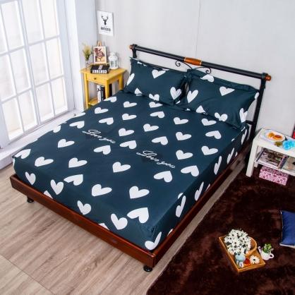 心心相映埃及長纖細棉三件式床包組-特大