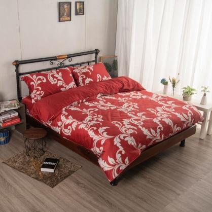 歡喜悅開埃及長纖細棉兩用被鋪棉床包組-特大