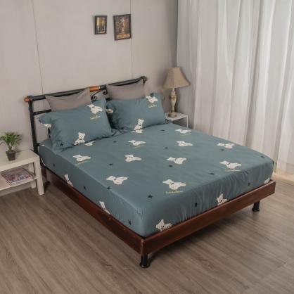 非爾貝爾埃及長纖細棉三件式床包組-單人
